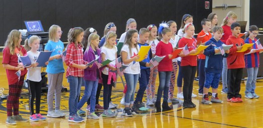 Gill Hall Chorus students singing
