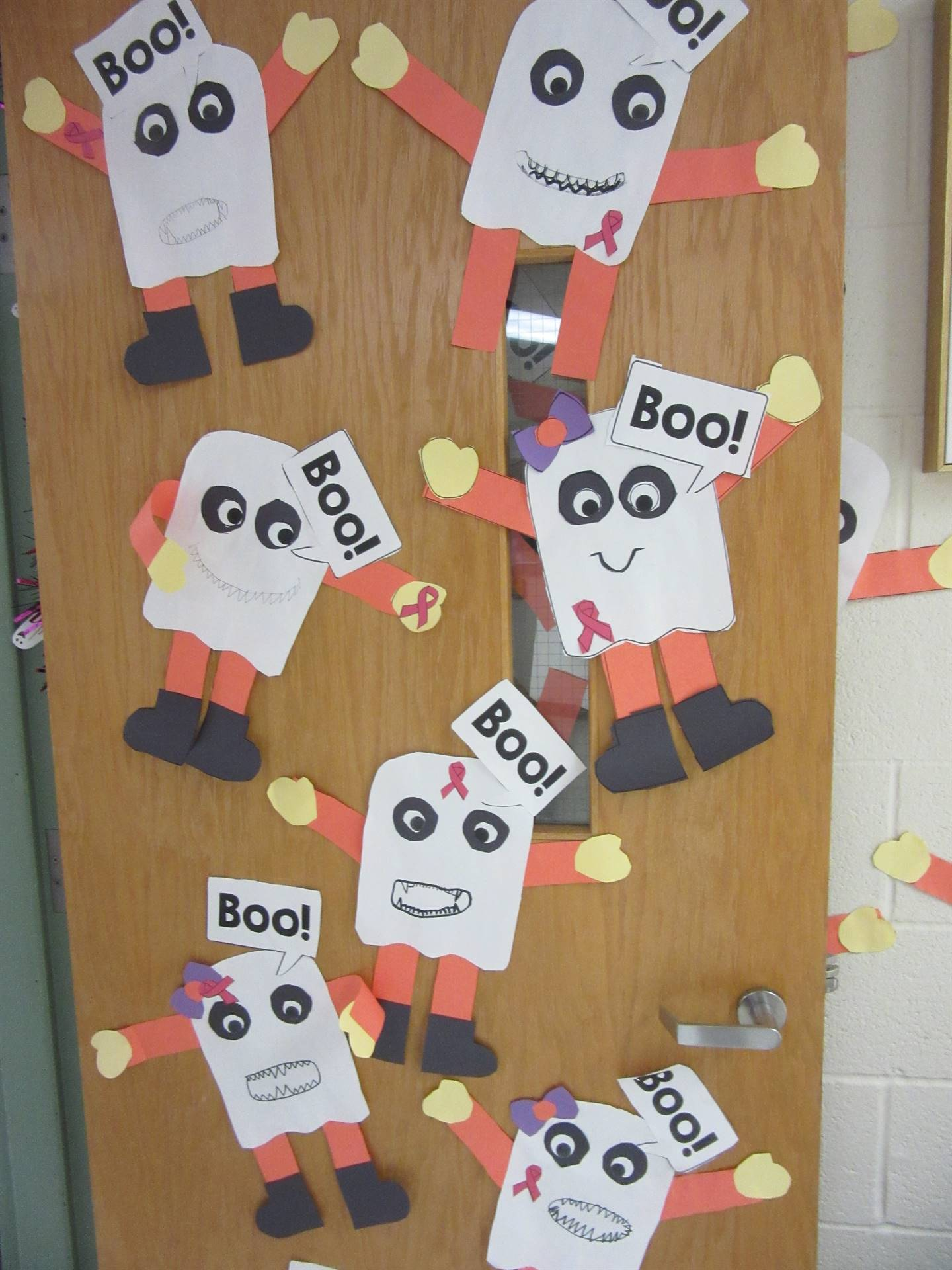 Classroom doors decorated for Red Ribbon Week