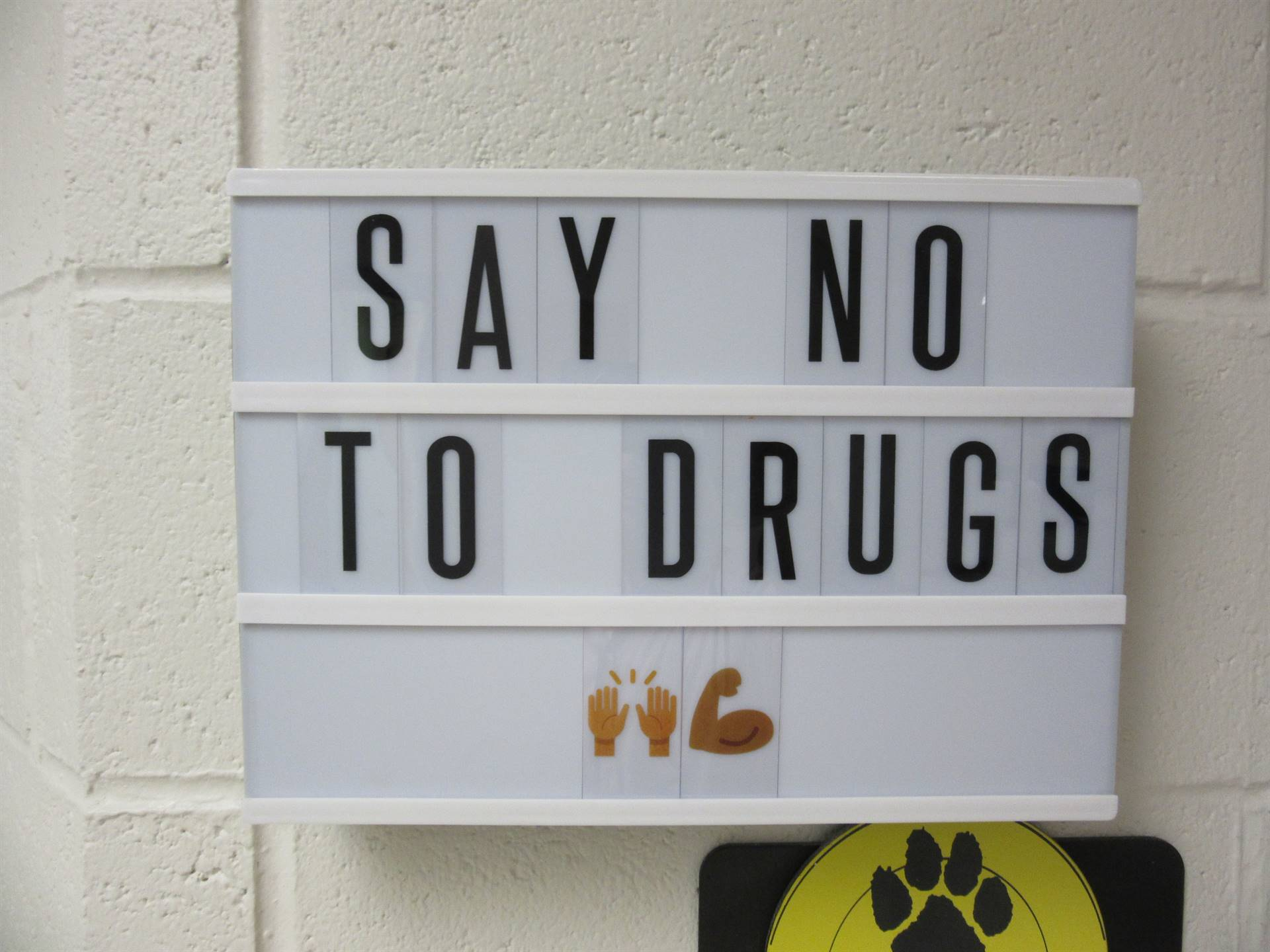 say no to drugs sign
