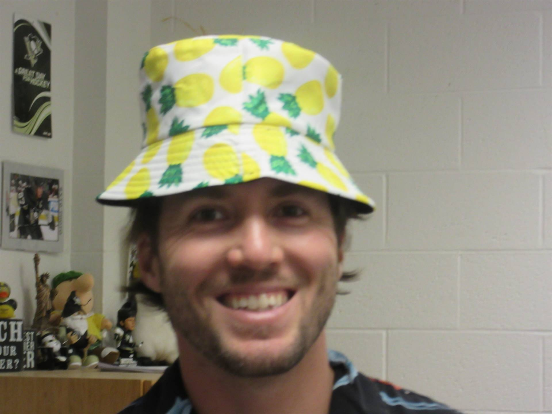 Teacher with pineapple hat