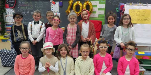 first graders dressed as 100 years of age