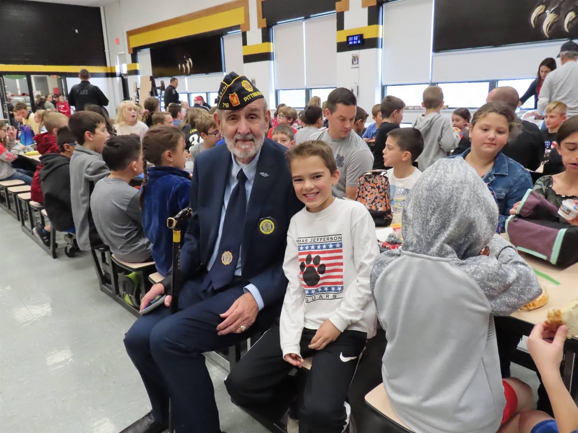 Veteran and grandson