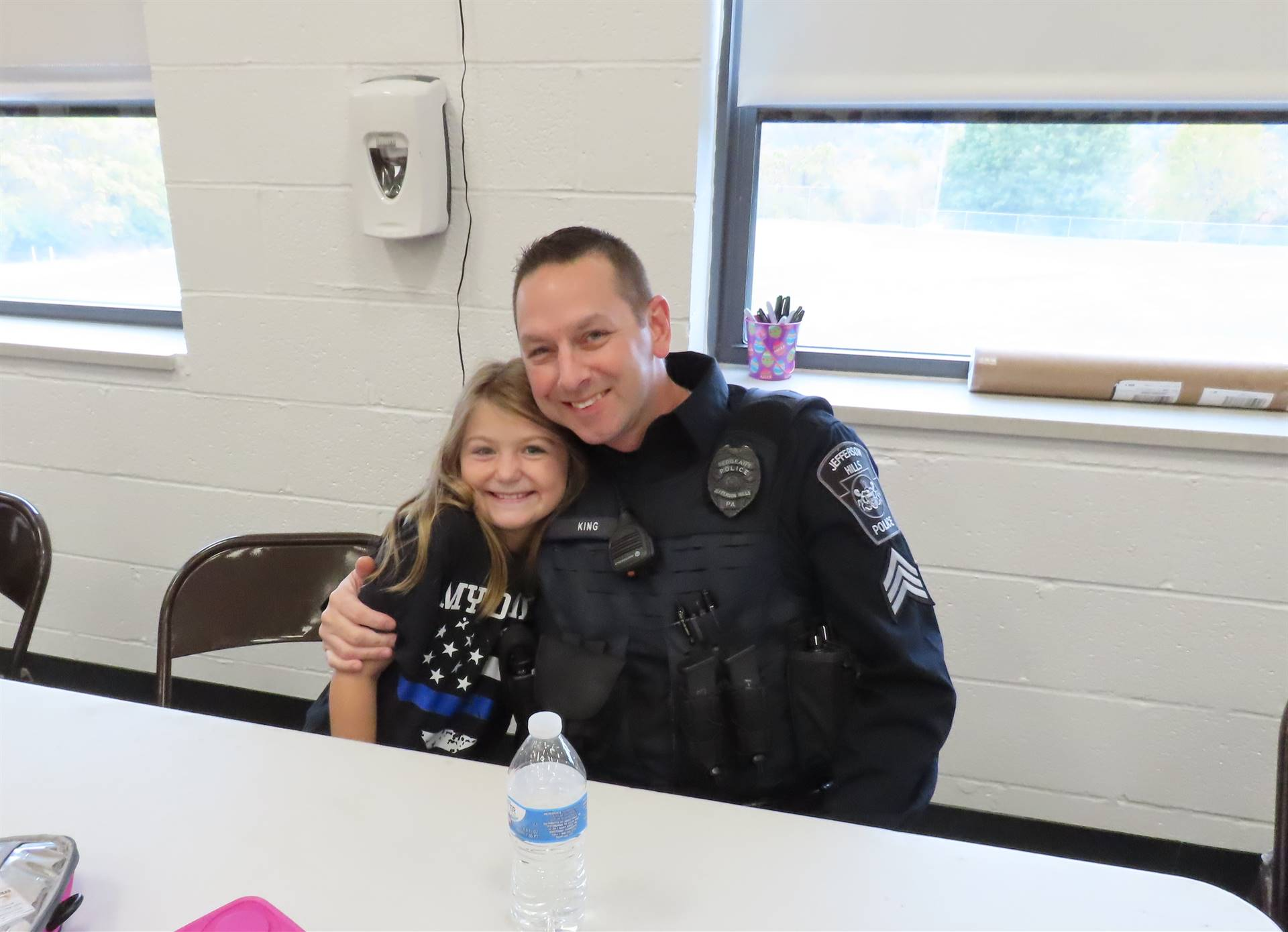 Police officer and daughter