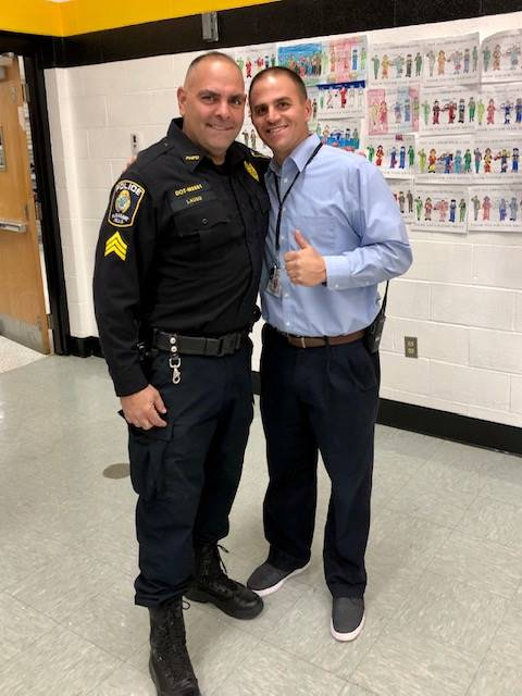 Principal very and police officer