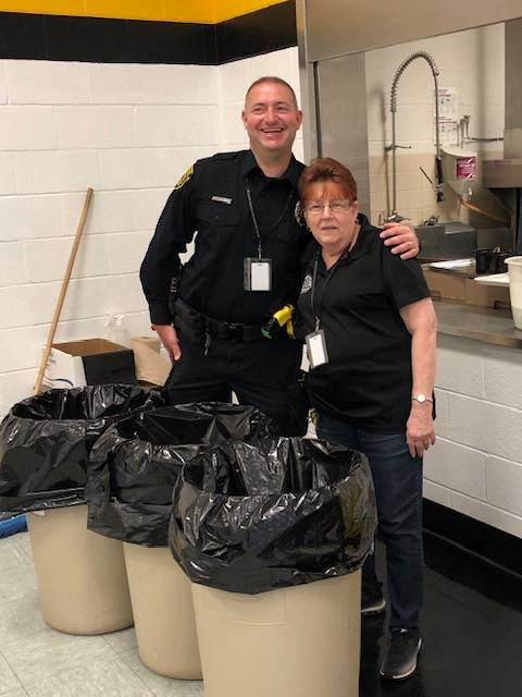 Officer Foulds with custodian