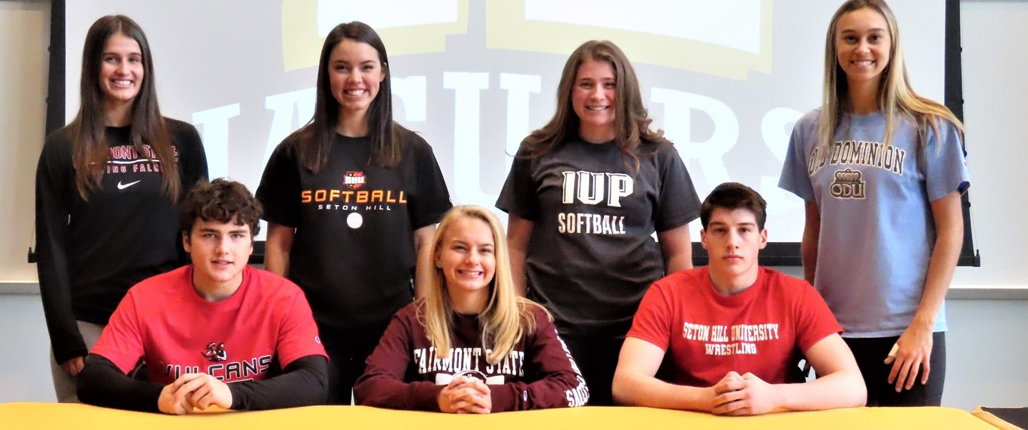 Student Athletes on signing day
