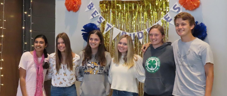 Group of high school best buddy club members