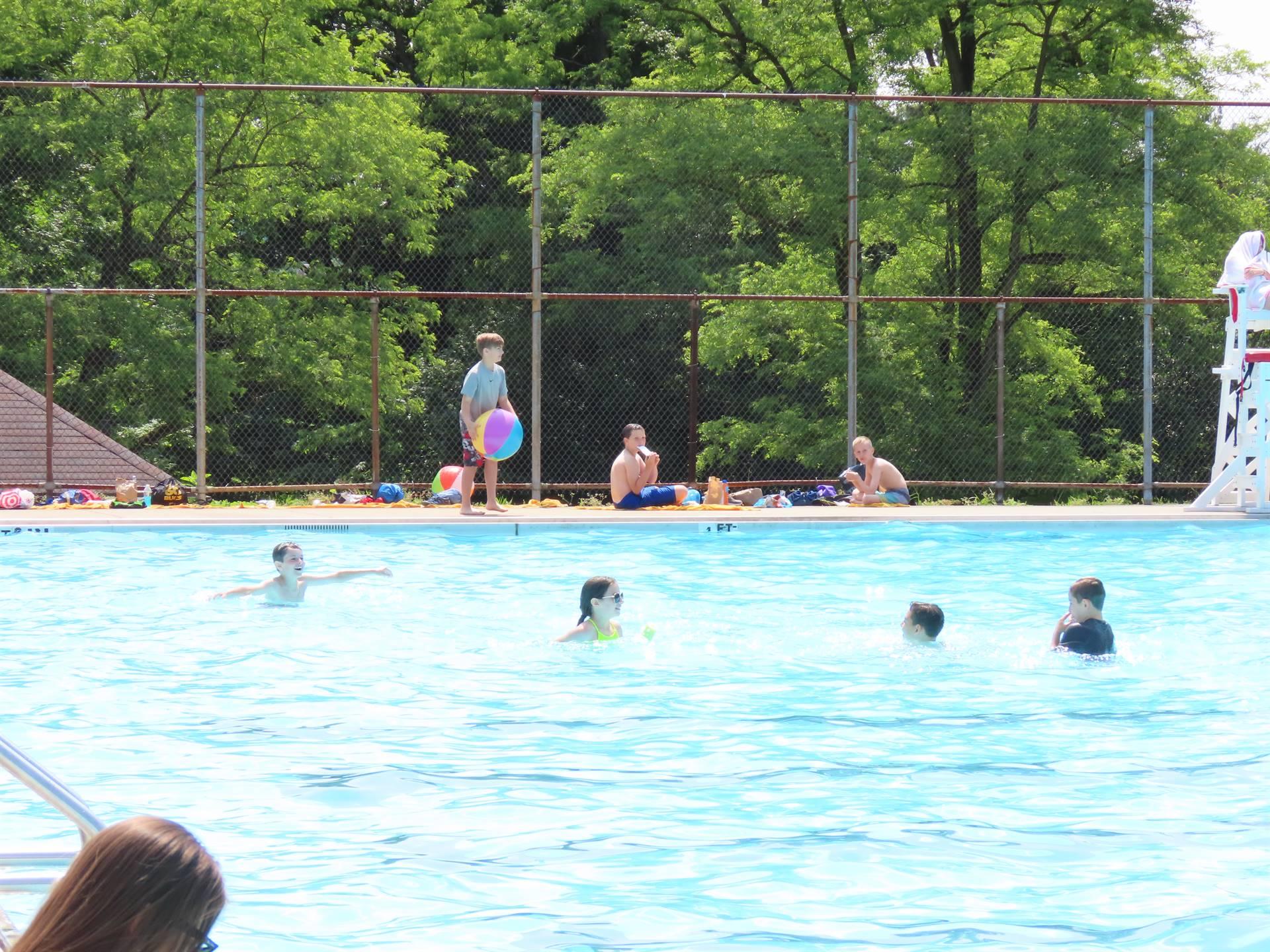 Kids at swimming pool