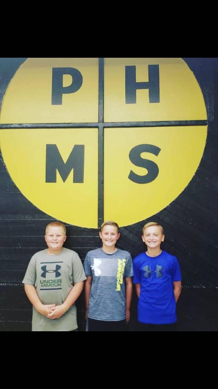 3 middle school boys