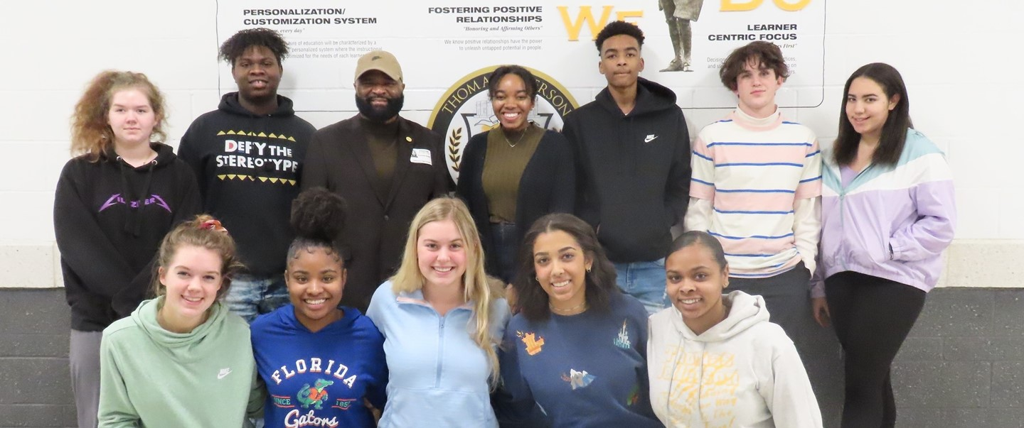 NAACP State President with TJHS Students
