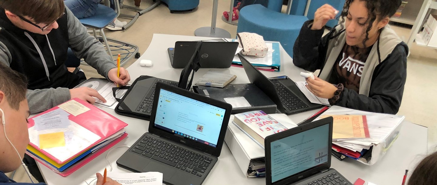 Students working on a project