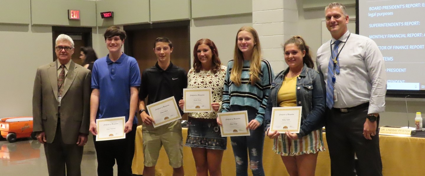 Students recognized at School Board Meeting