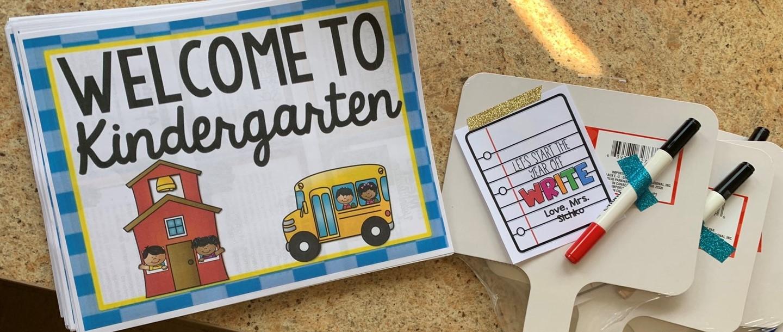Welcome to Kindergarten booklets